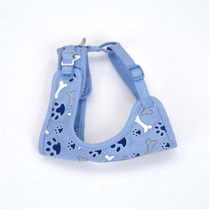 Li'l Pals Cool Blue Paws and Bones Harness