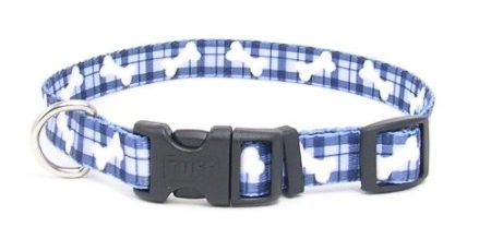 Pet Attire Plaid Blue Dog Collars