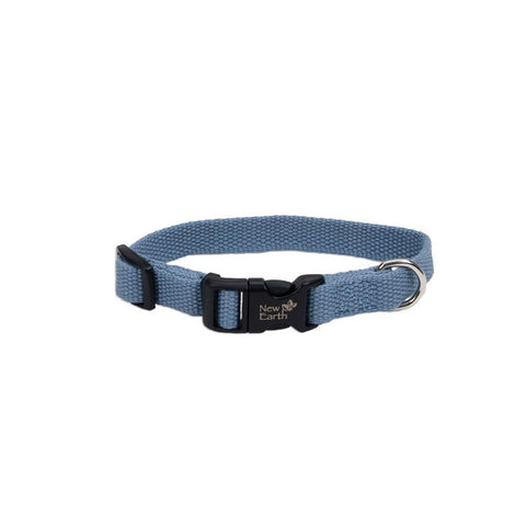 Coastal New Earth® Soy Dog Collar Slate Blue