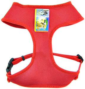 Coastal Comfort Soft Mesh Harness Red