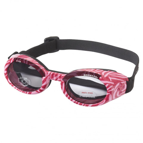 Doggles Eyewear Zebra Striped Pink Sunglasses(Small)