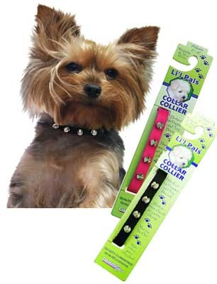 Li'l Pals Spiked Leather Dog Collar