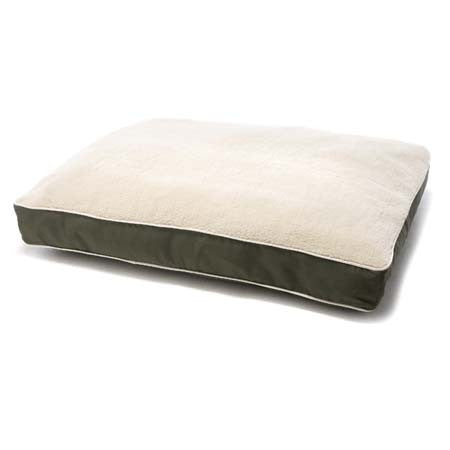 Dog Gone Smart Bed Rectangle with Sherpa - Olive