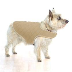 Beige Quilted Belly Dog Jacket