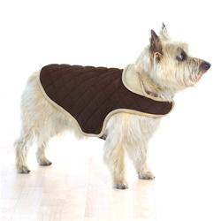 Brown Quilted Belly Dog Jacket