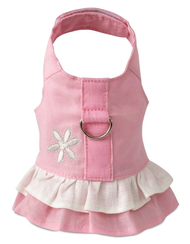 Pretty Pink Dog Harness Dress