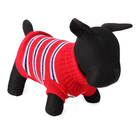 Red Stripe Dog Jumper