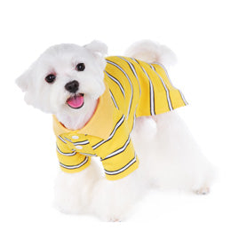 Dog Striped Polo Short - Lg