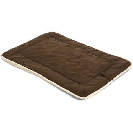 Dog Gone Crate Pad with Wool Sherpa Brown