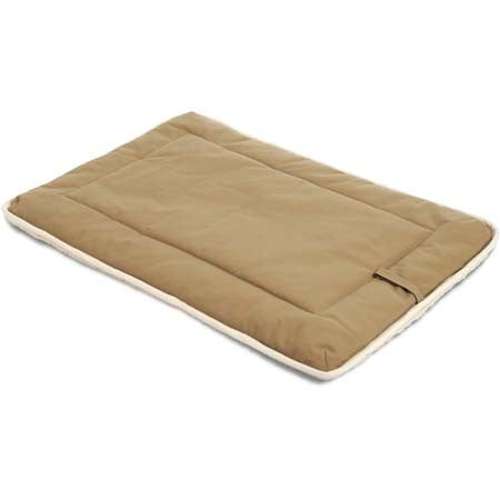 Dog Gone Crate Pad with Wool Sherpa Khaki