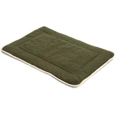 Dog Gone Crate Pad with Wool Sherpa Olive