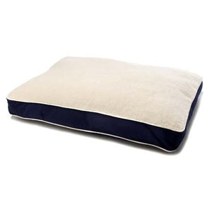 Dog Gone Smart Bed Rectangle with Sherpa - Navy