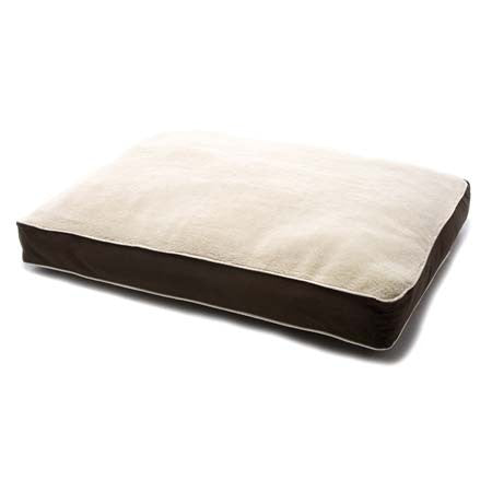 Dog Gone Smart Bed Rectangle with Sherpa - Brown