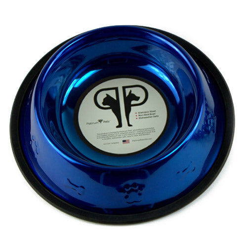 Dog Bowls Platinum Steel - Large