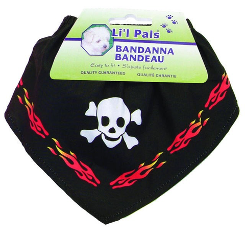 Li'L Pals Skull and Flames Bandana