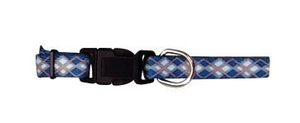 Li'l Pals Blue Argyle Dog Collars