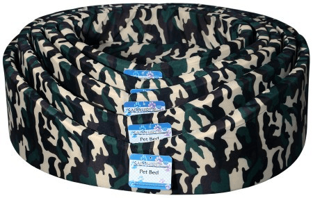 Oval Camo Dog Beds XS- XL