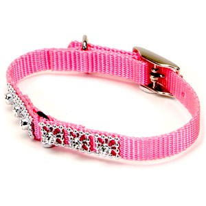 Pink Jewelled Cat Collar