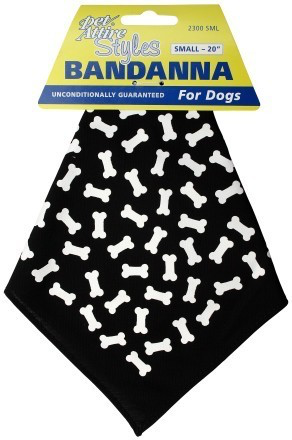 Pet Attire Black Bones Bandana