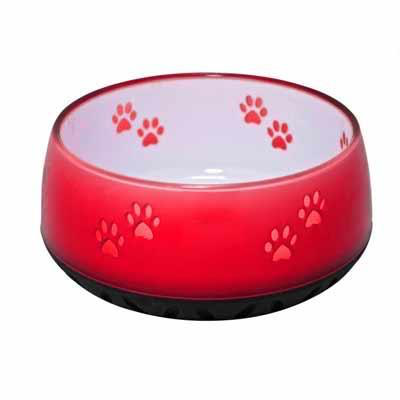 Dog Resin Bowls Red