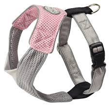 Harness V Mesh in Pink/Grey