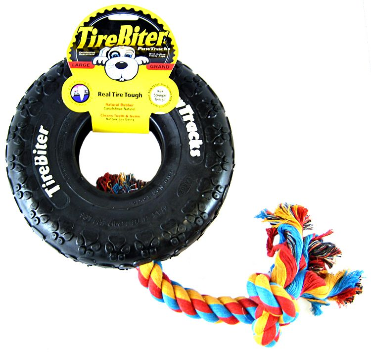 TireBiter Dog Toy with Rope For Strong Chewers -20cm