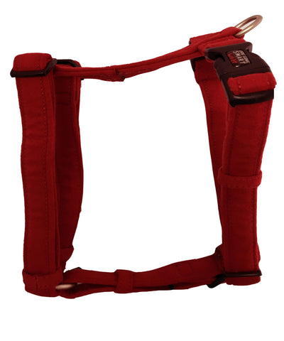 Dog Gone NanoSuede Soft Harness Red