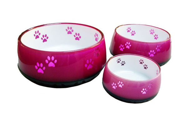 Dog Resin Bowls Pink