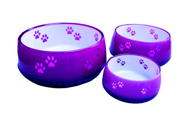 Dog Resin Bowls Purple
