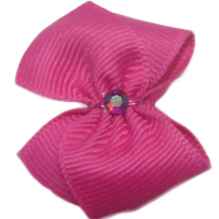 Ribbon Pink Bows - Doggie Hair Clip