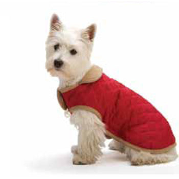 Red Quilted Dog Gone Smart NanoSuede Jacket