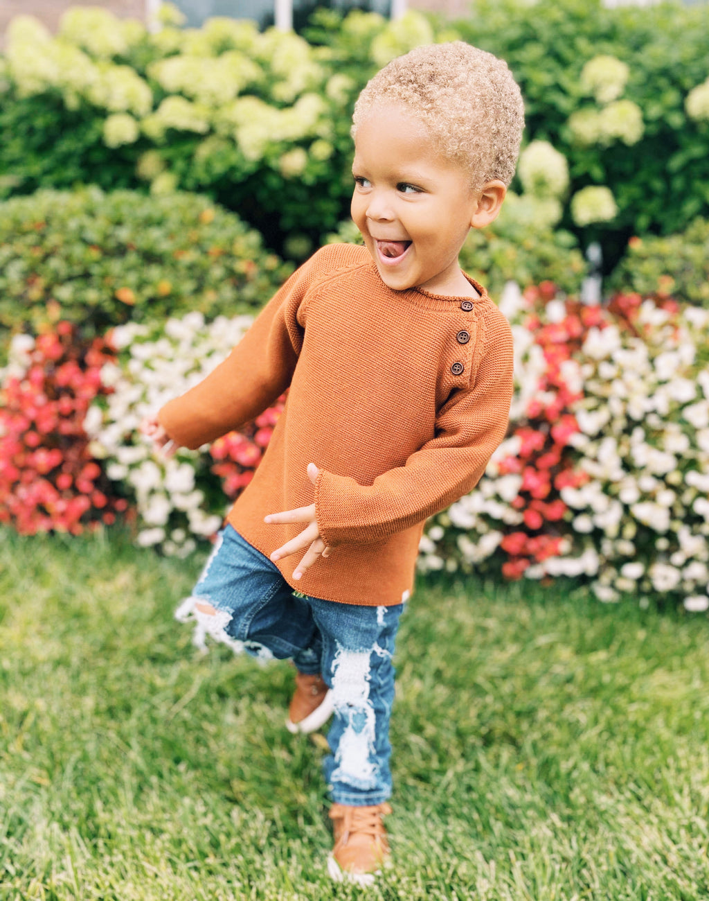 Boys Clothes Kids Clothes rust colored sweater