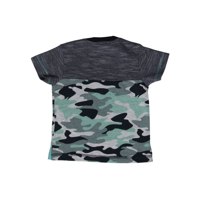 Teal And Navy Camo Stripe Tee BearCamp kids branded clothes Kidsbal boys boutique clothing boys fashion