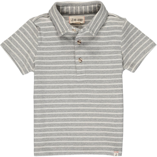 Boys Clothing Gray and White Stripe Polo Me &  Henry kids branded clothes Kidsbal boys boutique clothing boys fashion