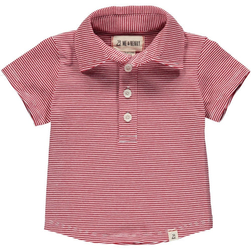 boys clothing red stripe polo shirt Me & Henry kids branded clothes Kidsbal boys boutique clothing boys fashion