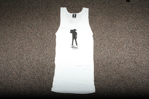 Ladies White RS by Sheckler tank top