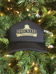 Black & Gold Sheckler Foundation Trucker Hat