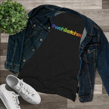 Load image into Gallery viewer, #wehiketoheal PRIDE Women's Triblend Tee