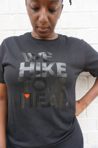 Black-on-Black #wehiketoheal Unisex T-shirt (Special Edition)