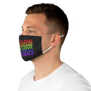 """Make a Statement"" Fabric Face Mask"