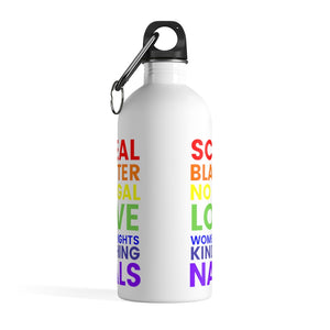 """Make a Statement"" Stainless Steel Water Bottle"