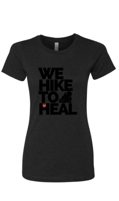 *SPECIAL EDITION FUNDRAISER* #wehiketoheal Black-on-Black Women's T-shirt
