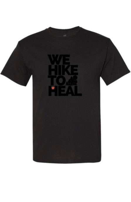 *SPECIAL EDITION FUNDRAISER* #wehiketoheal Black-on-Black Unisex T-shirt
