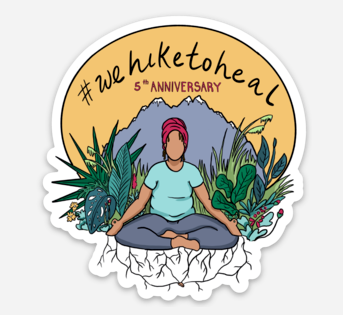 Commemorative #wehiketoheal Stickers