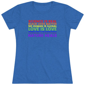 """Make a Statement"" Women's Triblend Tee"