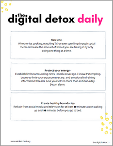 the digital detox: interactive guided experience