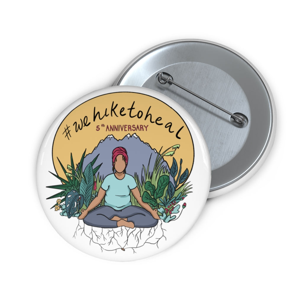 Commemorative #wehiketoheal 5th anniversary Button