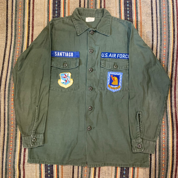 Vintage 70s USAF OG107 P64 Fatigue Shirt