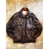 Vintage 90s Type A2 Leather Flight Jacket