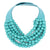 Multistrand Necklace in Bright Turquoise